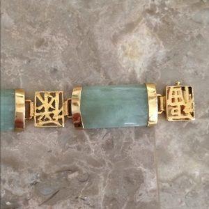 Neiman Marcus Jewelry - 14k gold Jade bracelet